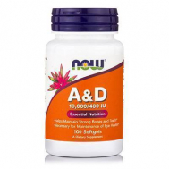 A & D (10,000 IU A / 400 IU D-3) - 100 Softgels