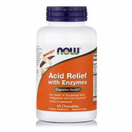 ACID RELIEF with Enzymes / Call Carb, Xylitol Sweetened - 60 Chewables