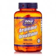 ARGININE - ORNITHINE 500/250 mg - 100 Caps