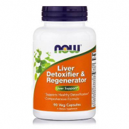 LIVER DETOXIFIER & REGENERATOR - 90 Caps 22 Herbs, NAC, Glutathione, Grape Seed Extract, Silymarin & Much More!