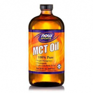 MCT Oil, 100% Pure (in Glass) - Vegeterian 32 oz (946,2ml)
