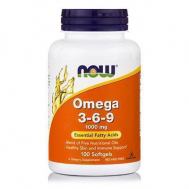 OMEGA 3-6-9 1000 mg, (Flax, Primrose, Canola, Pumkin & Black Currant) - 100 Softgels