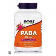 PABA 500 mg (Para-aminobenzoic Acid) - 100 Caps