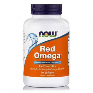 RED OMEGA™ (Salmon Oil 1000 mg, CoQ10 60 mg, Organic Red Yeast Rice) - 90 Softgels