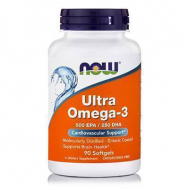OMEGA-3 ULTRA (75%! Molecularly Distilled, 500 mg EPA/250 mg DHA per Gel) - 90 Softgels