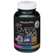 Nature's Plus Ultra Omega 3/6/9 1200mg Softgels 90