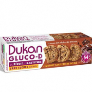 Dukan Μπισκότα βρώμης GLUCO-D με κομμάτια σοκολάτας, 100 γρ.