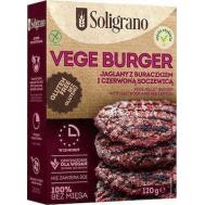 Soligrano Vege Burger Μπιφτέκι με Παντζάρι Για Χορτοφάγους 140gr