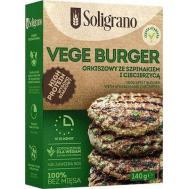 Soligrano Burger Σπανάκι και Ρεβίθια Vegan Για Χορτοφάγους 140gr