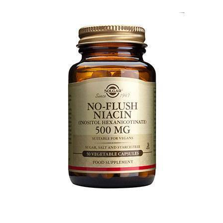 NO FLUSH NIACIN 500mg veg.caps 50s