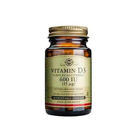 VIT. D-3 600 IU veg.caps 60s