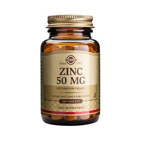 ZINC GLUCONATE 50mg tabs 100s