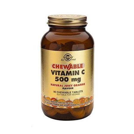 VIT.C 500mg chewable ORANGE tabs 90s