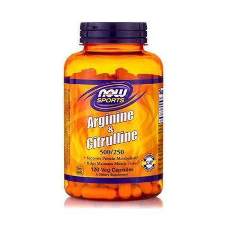 ARGININE & CITRULINE 500/250mg - 120 Caps