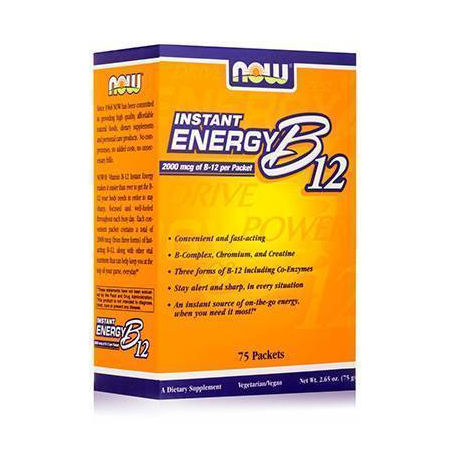 INSTANT ENERGY B-12 (3 Forms + Chromium, Creatine, B Vitamins) - 75 Packets