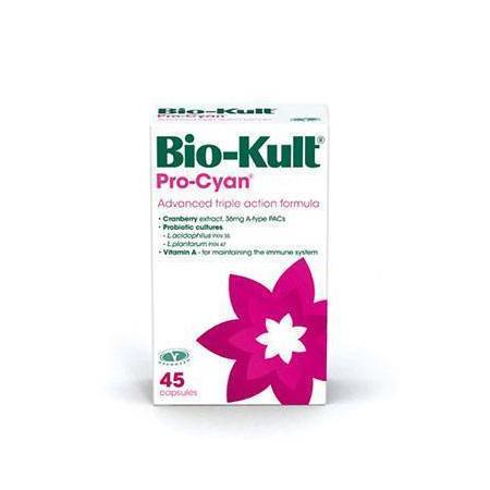 Bio-Kult Pro-Cyan 45 caps (Προηγμένη ΤΡΙΠΛΗ σύνθεση Cranberry για την υγεία του ουροποιητικού)