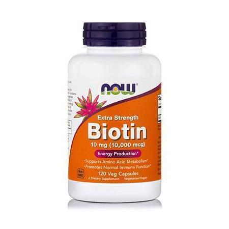 BIOTIN 10 mg (10,000 mcg) Extra Strength - 120 Vcaps®