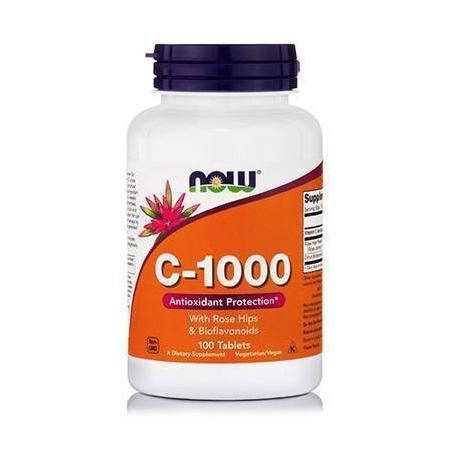 C-1000 w/ ROSE HIPS & Bioflavonoids, 100 Tabs