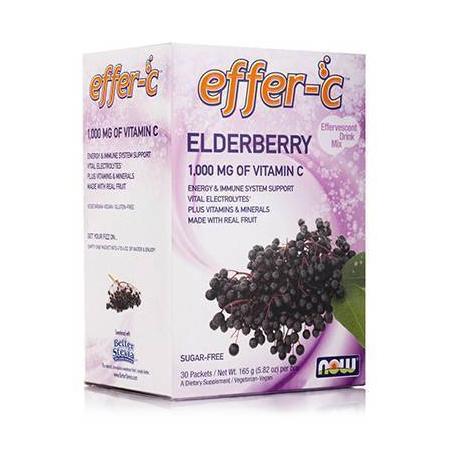 EFFER-C Elderberry  (Iodine Free !! - Sugar Free!!) - Vegetarian 30 Packets