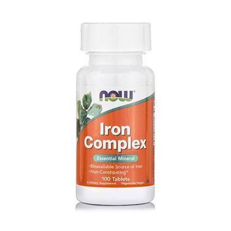 IRON Complex (Iron Bisglycinate 27 mg, Dong-Quai, Raspberry, B12 & Folic Acid) - Vegetarian 100 Tabs