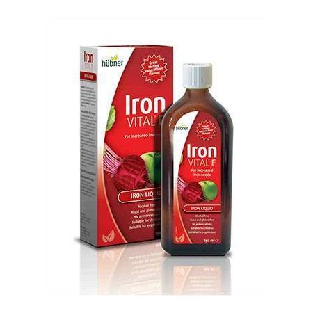 Iron Vital F 250ml (Φυσική πηγή σιδήρου από συμπυκνωμένο χυμό από παντζάρι_ μήλο_ κεράσι και εκχύλισμα τριανταφυλλιάς)