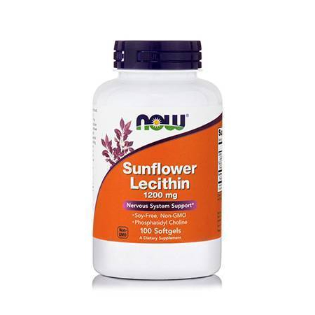 LECITHIN Sunflower 1200 mg Soy-Free - 100 Softgels