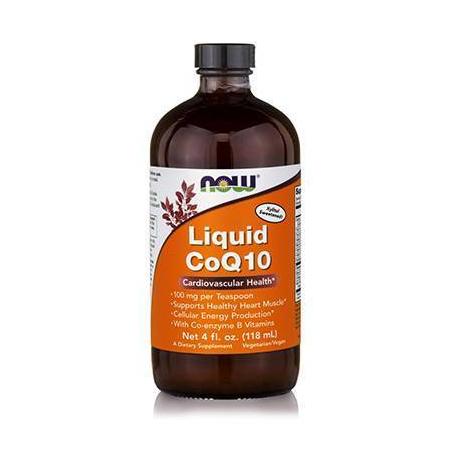 Co Q10 LIQUID Orange Flavor, 100 mg / TSP - Vegetarian 4 oz (118,3 ml)