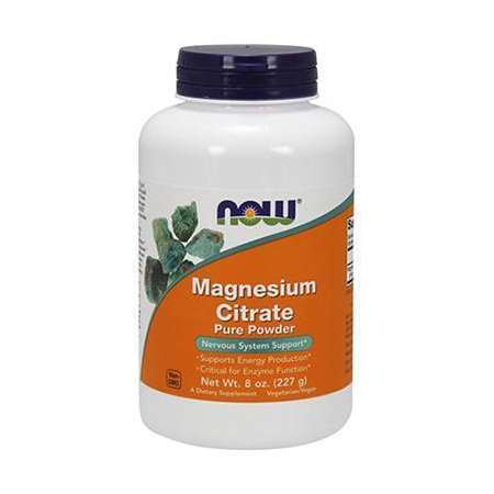 MAGNESIUM CITRATE Pure Powder - Vegetarian 8 oz (226,7 gr)